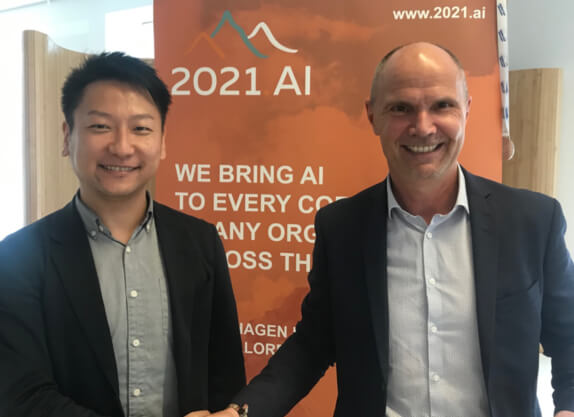 Koji Sumimoto, CEO and founder of Edge Consulting, and Mikael Munck, CEO and founder of 2021.AI